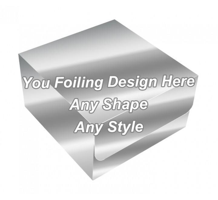 Silver Foiling Final - Tuck End Auto Bottom Cupcake Box