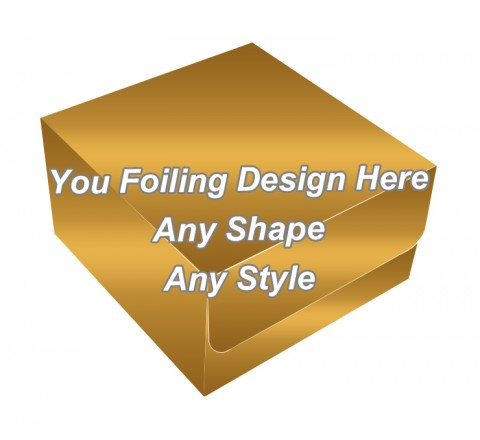 Golden Foiling Final - Tuck End Auto Bottom Cupcake Box
