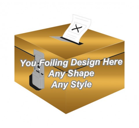 Golden Foiling - Ballot Boxes